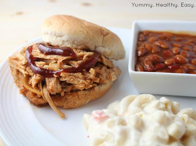 Easy Crock Pot BBQ Pulled Pork - Yummy Healthy Easy