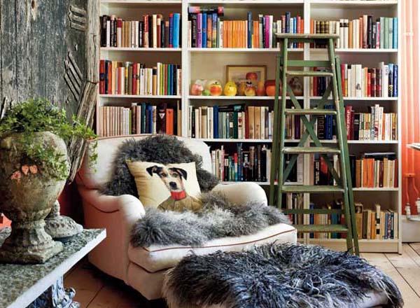 zona de lectura en la biblioteca