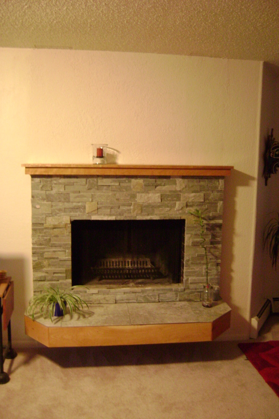 alaska wood fireplace refacing