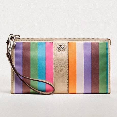 COACH Julia Legacy Stripe Zippy Wallet 46807