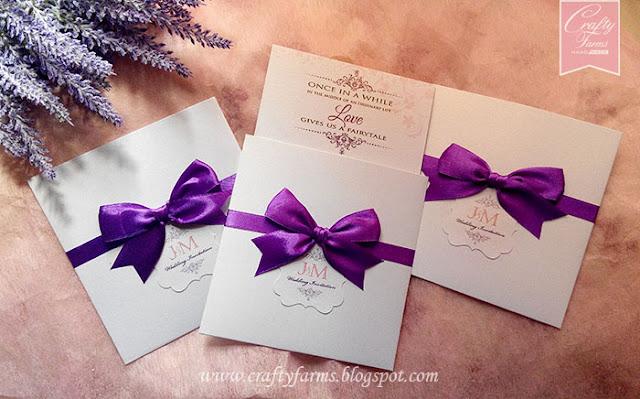 Church Ceremony Pocket Wedding Invitation Cards with Timeline