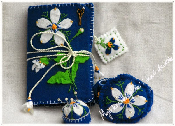 pincushion, felt craft, prace z flicu, biżuteria z ficu, sewing accesories, needle book