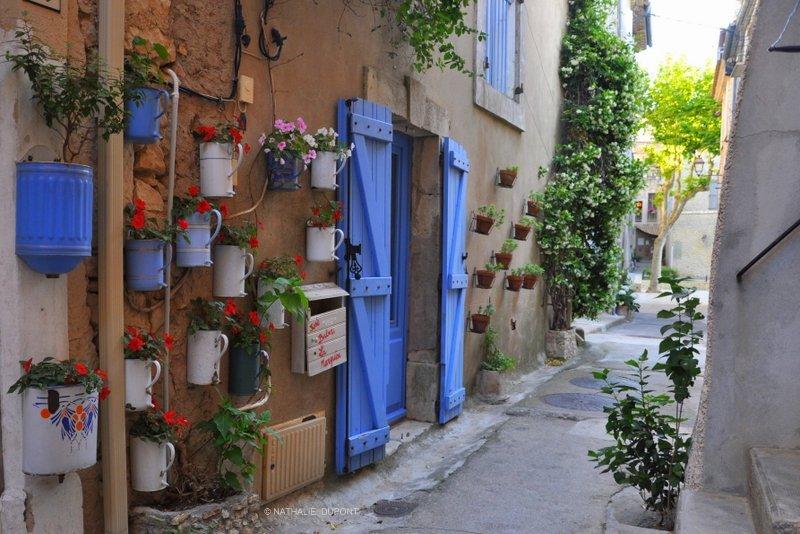333+-+Ruelle,+Peyriac+de+Mer,+France,+Rue,+Street,+Typique,+City,+D%C3%A9coration+Porte,+Volet+bleu,+Pots+de+fleurs,+Objets,+Ext%C3%A9rieur,+Outdoor,+Tranquille,+Calme,+Sans+personnage,+Verdure,+Couleur+-+DSC_0374R3+BR+C