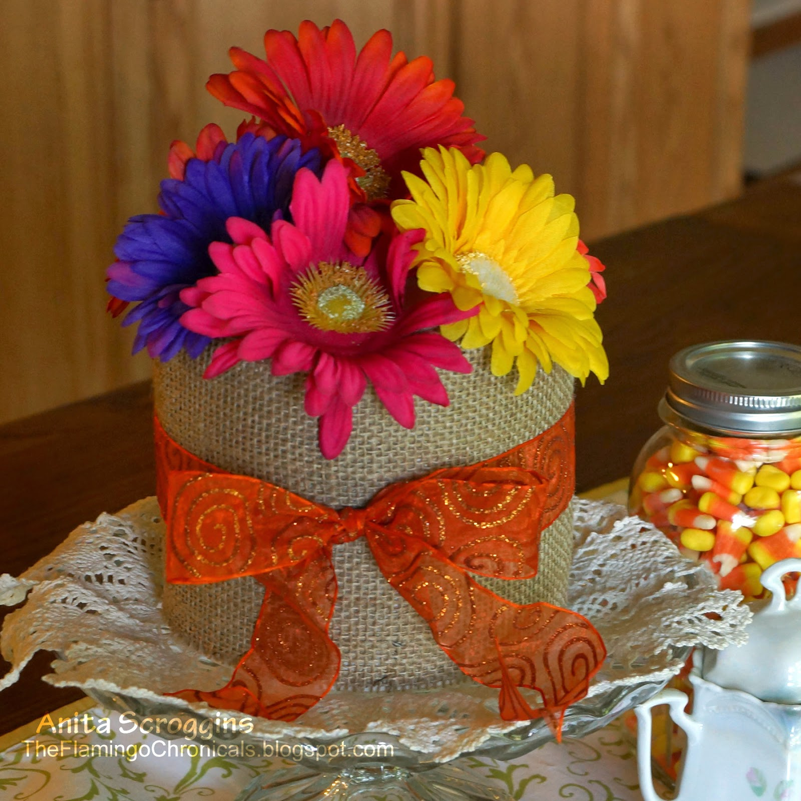 fall burlap smoothfoam bouquet