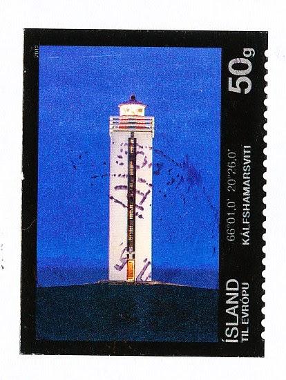 stamp, iceland, huna bay, húnaflói, lighthouse