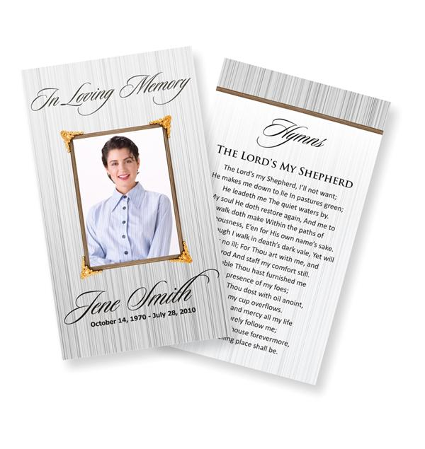free funeral program cover templates