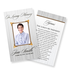 Free Printable Funeral Program Templates Online - Free printable funeral program template