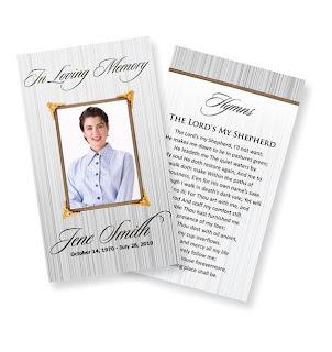 Free Funeral Program Templates  Free Printable Funeral Program Templates