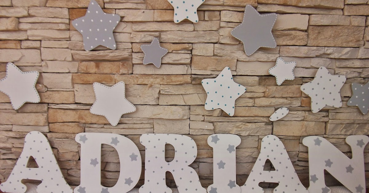 Decoraci n infantil pekerines letras de madera para habitaciones infantiles - Letras decoradas infantiles ...