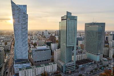 Варшава с Дворца науки и культуры. Warsaw centrum