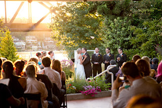 The wedding ceremony of Andrew and Jillian at The Canal