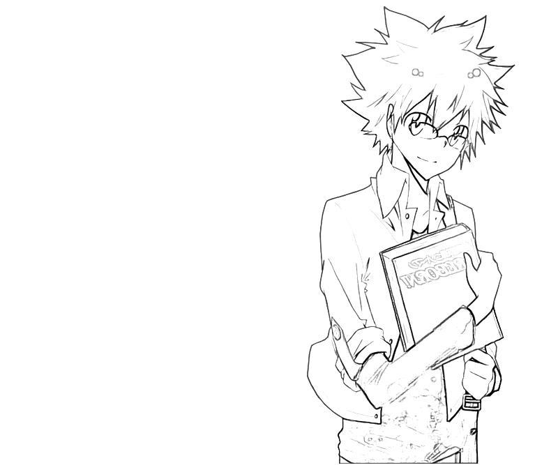 printable-tsunayoshi-sawada-book-coloring-pages