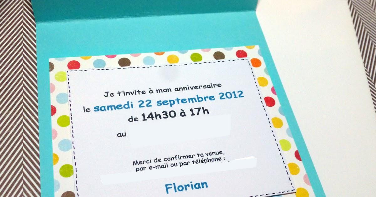 cartes d'invitation anniversaire fille 10 ans