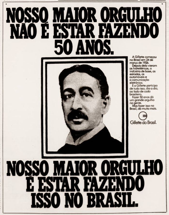 gillette.  anos 70.  Reclame 1976.  década de 70. os anos 70; propaganda na década de 70; Brazil in the 70s, história anos 70; Oswaldo Hernandez;