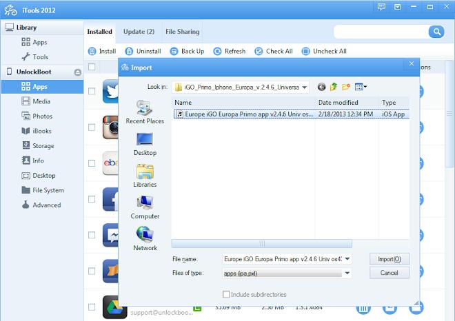 Install IPA file iTools