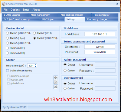 Globe Wimax Tools v6.0 by Syntaxerror00100 [Latest Version]