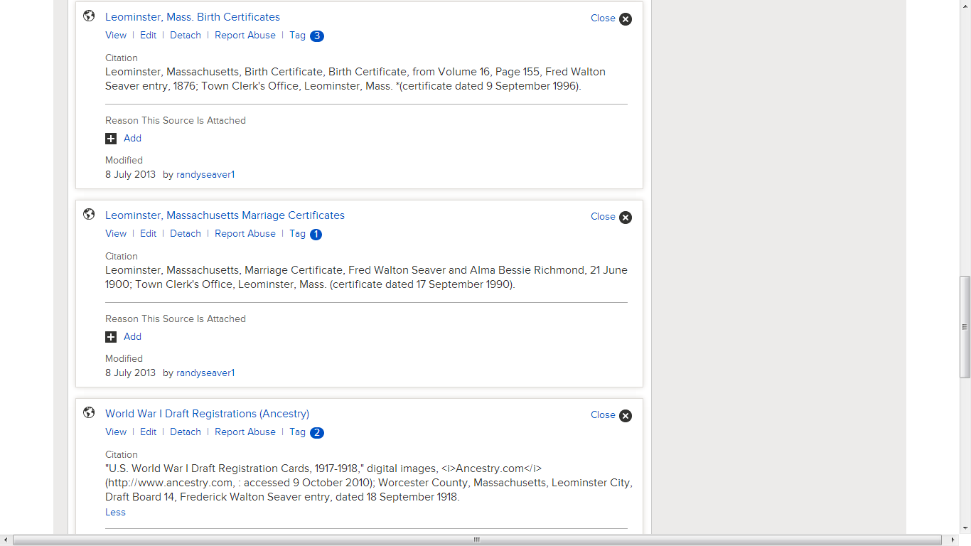 Genea musings checking how sources from rootsmagic 6 transfer to after i clicked on each source listed above the actual citations were shown there are 7 screens first screen only shown here xflitez Choice Image