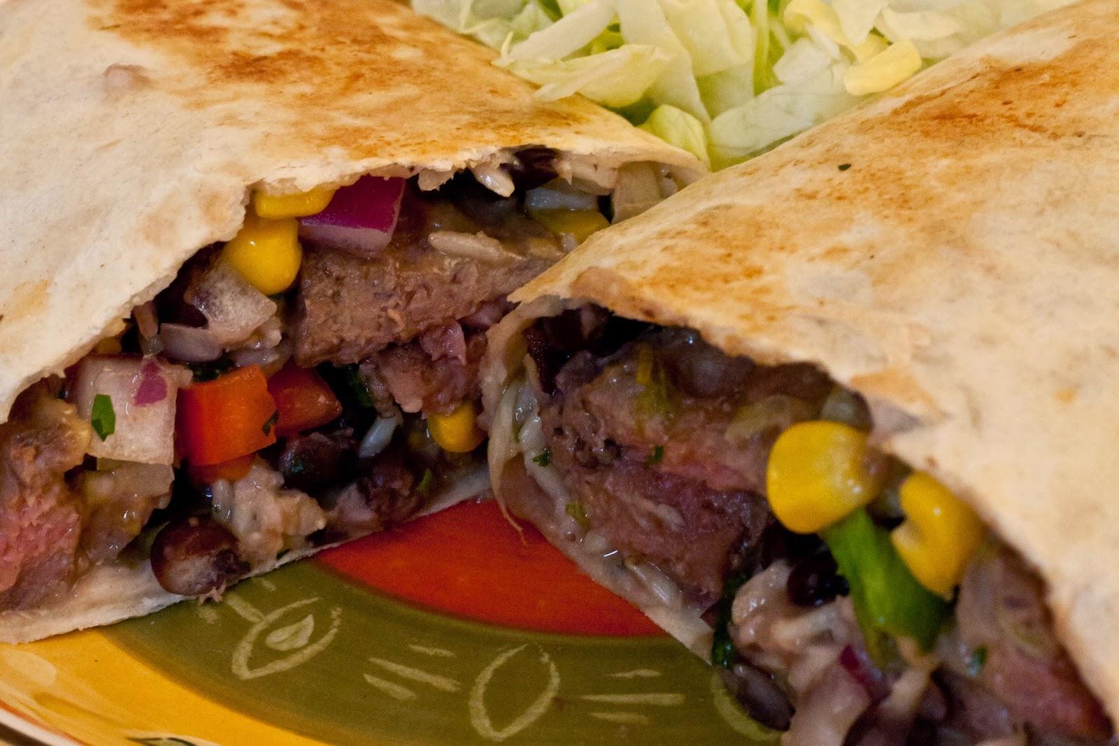 Southwest Bison Steak Wrap