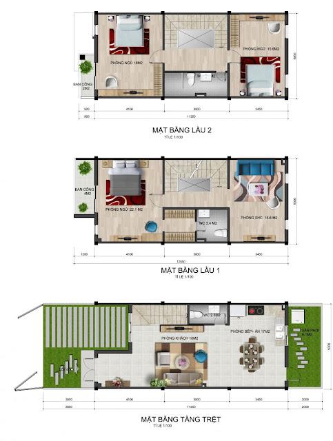 Bán nhà phố Park Riverside Quận 9 mẫu LL6
