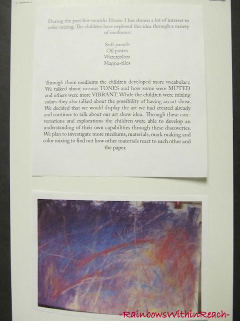 Reggio Documentation of Children's art via RainbowsWithinReach