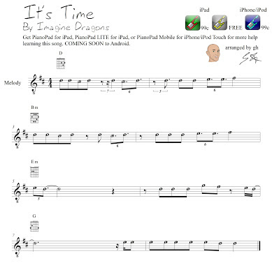 Imagine Dragons Its Time Chords