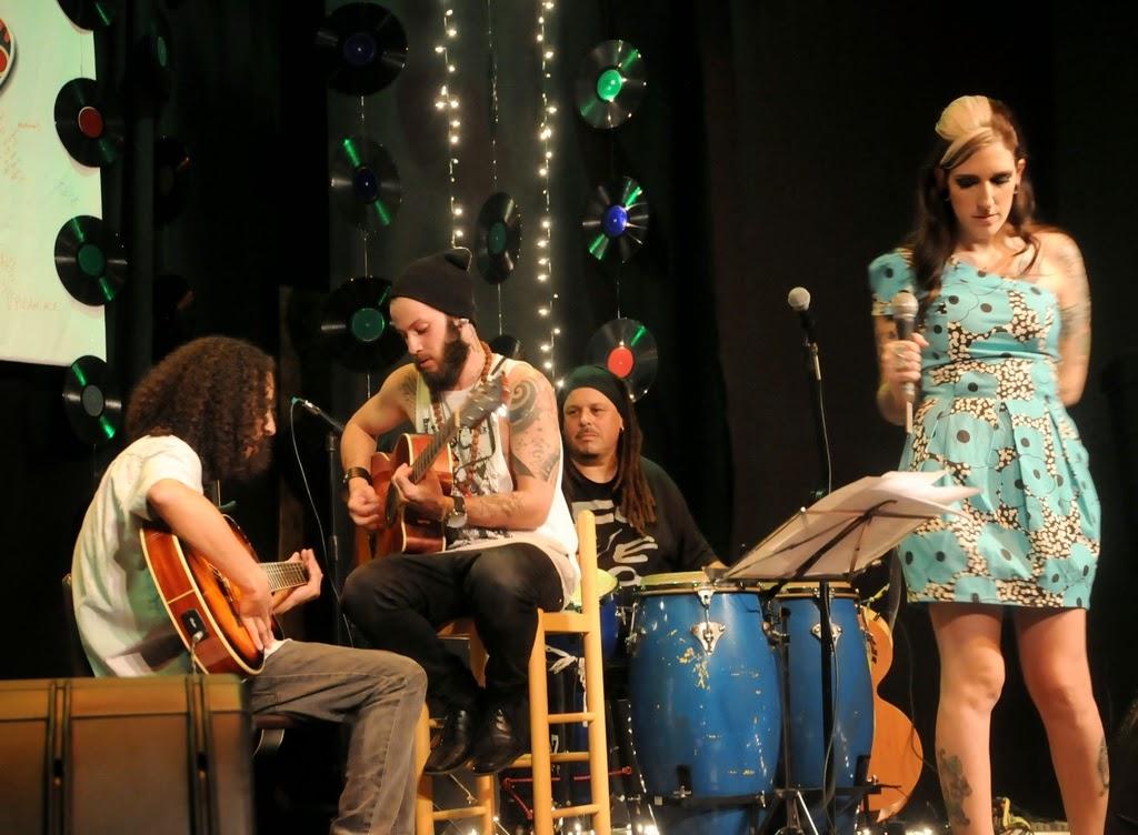 Spencer, Hugo Sanchez, Celso Guimarães e Rachel Claussen em um dos momentos do evento