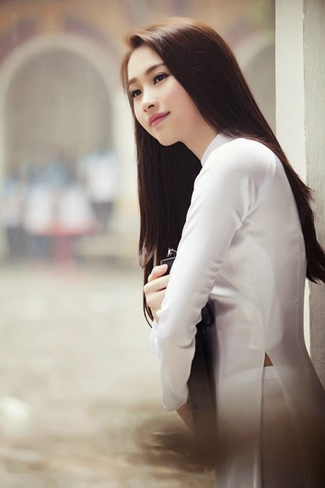 Ảnh gái đẹp diệu dàng trong tà áo dài 32