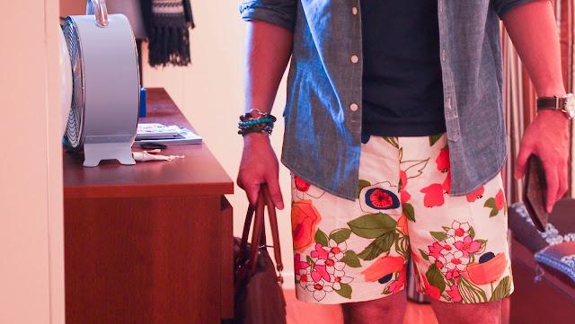 mr turk floral shorts