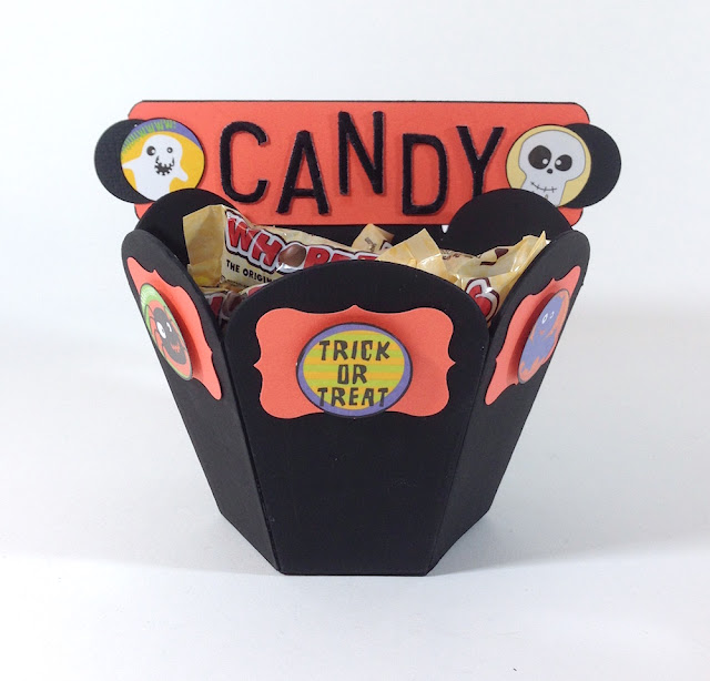 halloween cardboard candy pot lisa fulmer