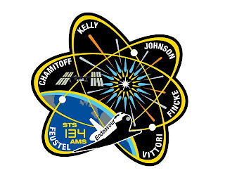 mission patch sts 134 space shuttle