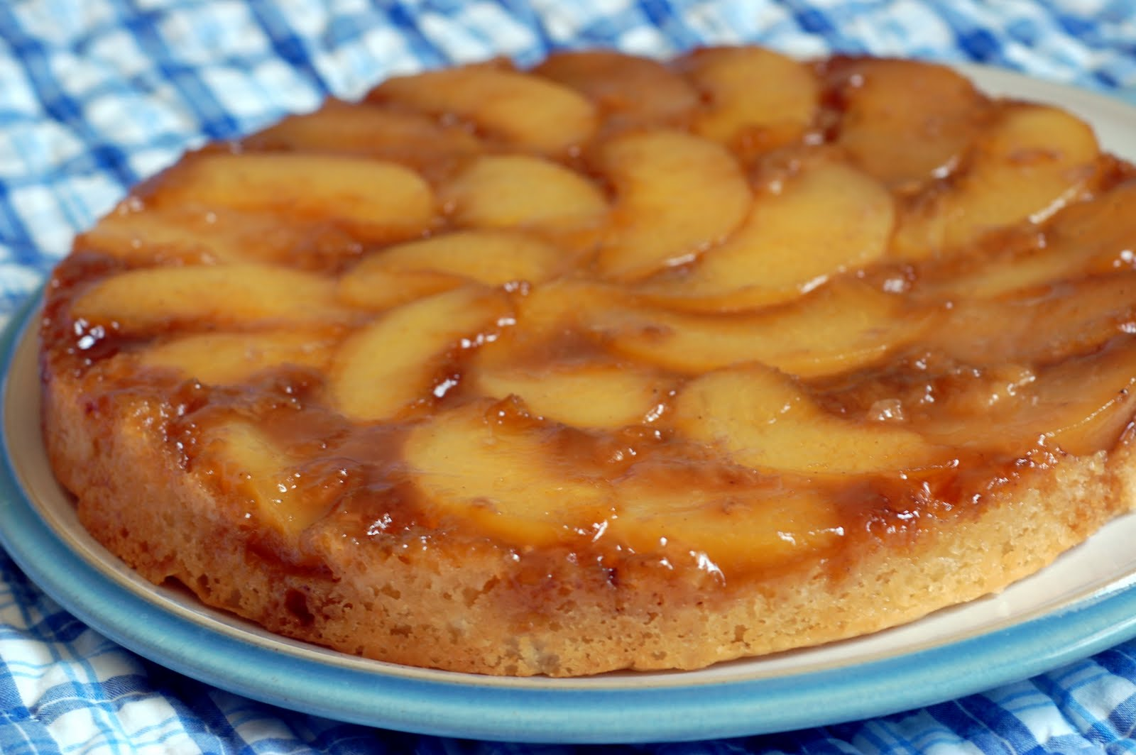 Peach Upside Down Cake Recipe — Dishmaps