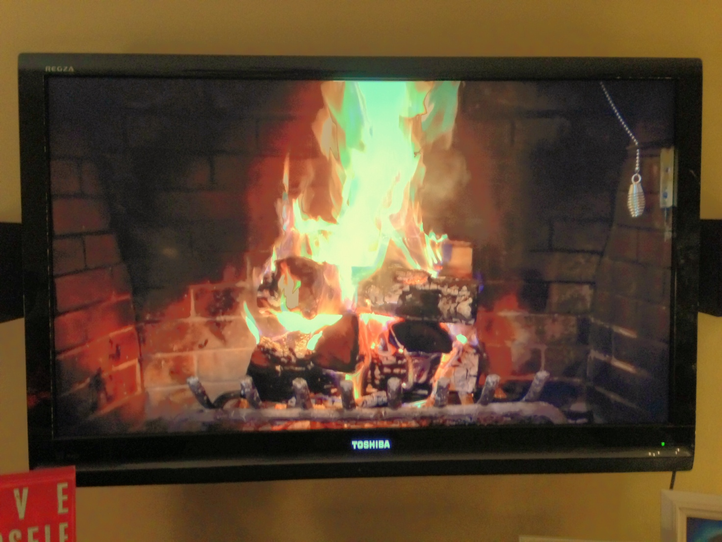 iphone or ipad apple tv u003d cozy fireplace practical istuff