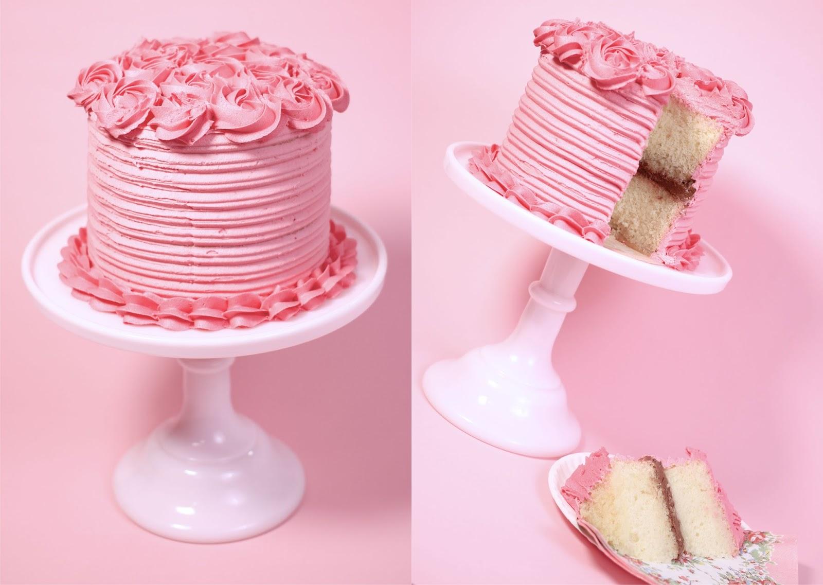 tarta de buttercream y rosas