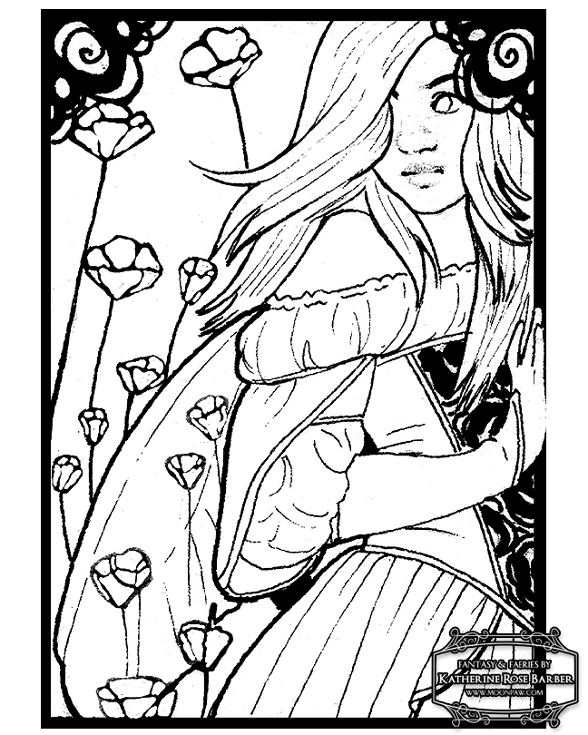 detailed printable fantasy coloring pages - photo#33