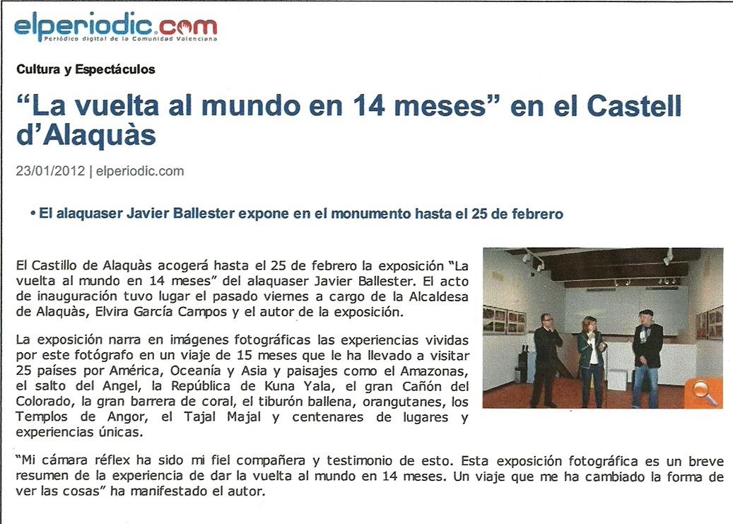 Exposicion de fotos en el castillo de alaquas de javier ballester - Trabajo en alaquas ...