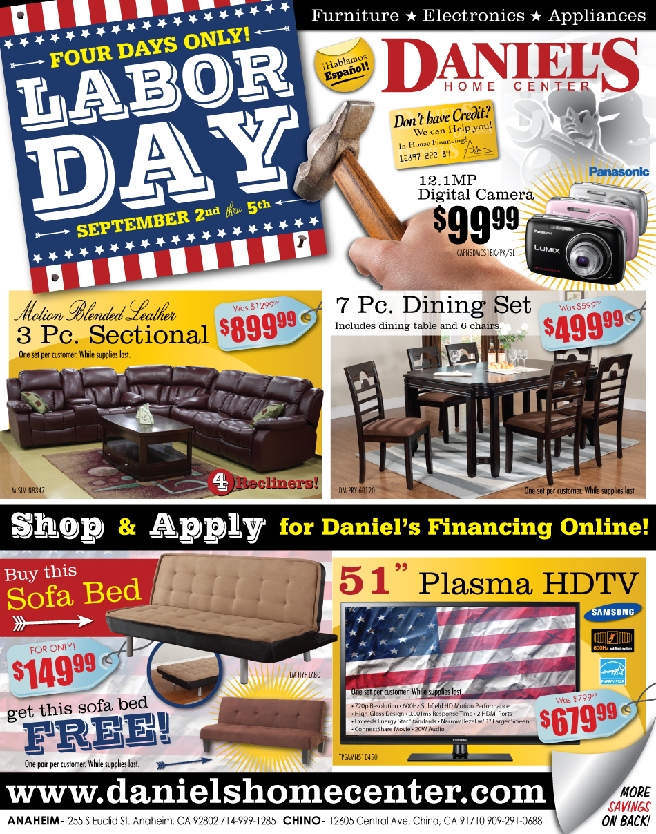 A furniture store labor day sale ad 2011 designed by a for Labor day couch sale