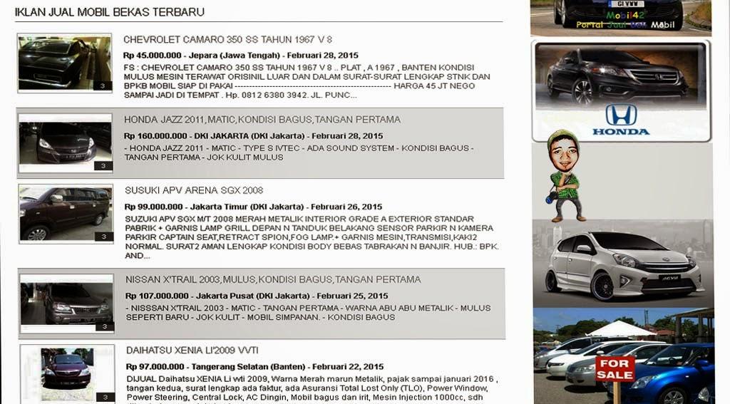 Mobil bekas & baru Jakarta hari ini jualmobilbekas.hol.es_iklan