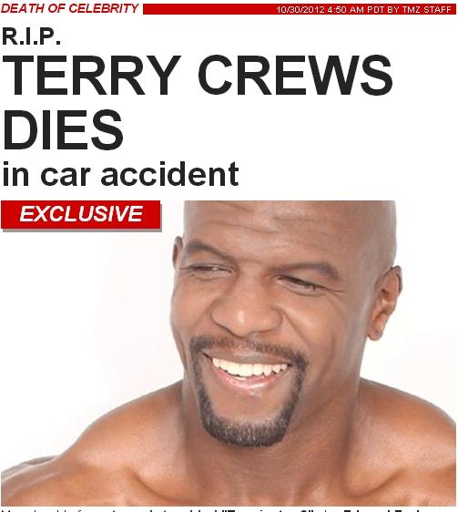 Morre aos 44 anos o ator Terry Crews - Causa da morte, Informações e Imagens - #RIPTerryCrews
