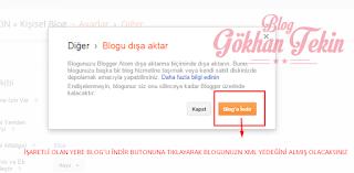 Blogger Yedek Alma İşlemi