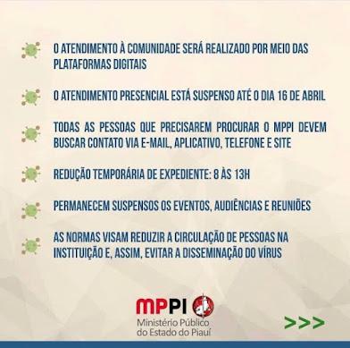 COMUNICADO Ministério Publico do Piauí