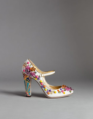 mary jane block heel with candy colored embellishments