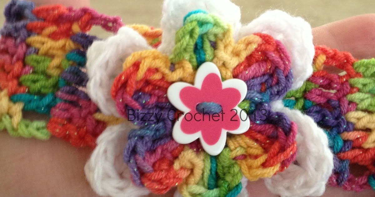 Free Crochet Afghan Patterns For Young Adults : Bizzy Crochet: Layered Button Flower Accent- Free Pattern