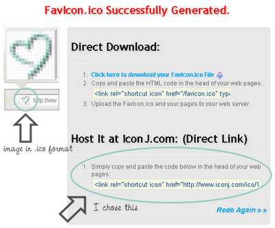 favicon generator, icon, direct link, tips