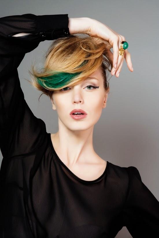 L'Oreal Hair Chalk, Hair chalk, colored hair, hair color, L'Oreal, Colorful, Color Lovers, Hair trends of 2014, Sexy hair, Color lovers, Green Hair Chalk