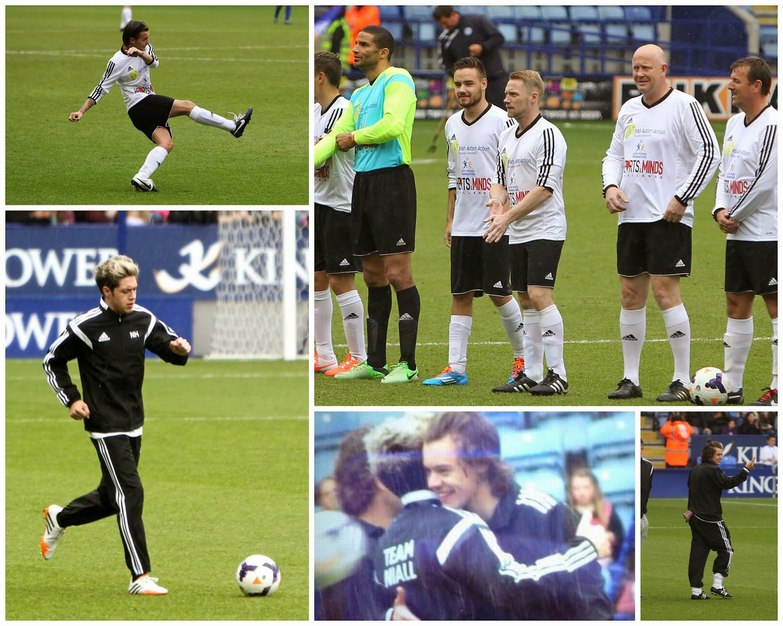 one direction, 1d, 26.05.14, niall horan, the niall horan charity football challenge, king power stadium, leicester, harry styles, liam payne, louis tomlinson