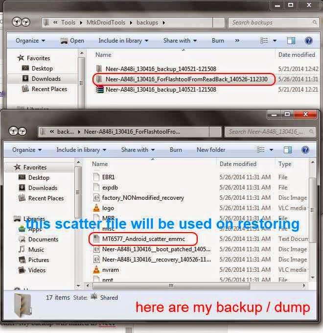 scatter file