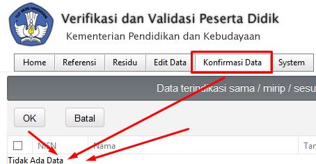 Cara Edit Data Siswa Pada Verval NISN
