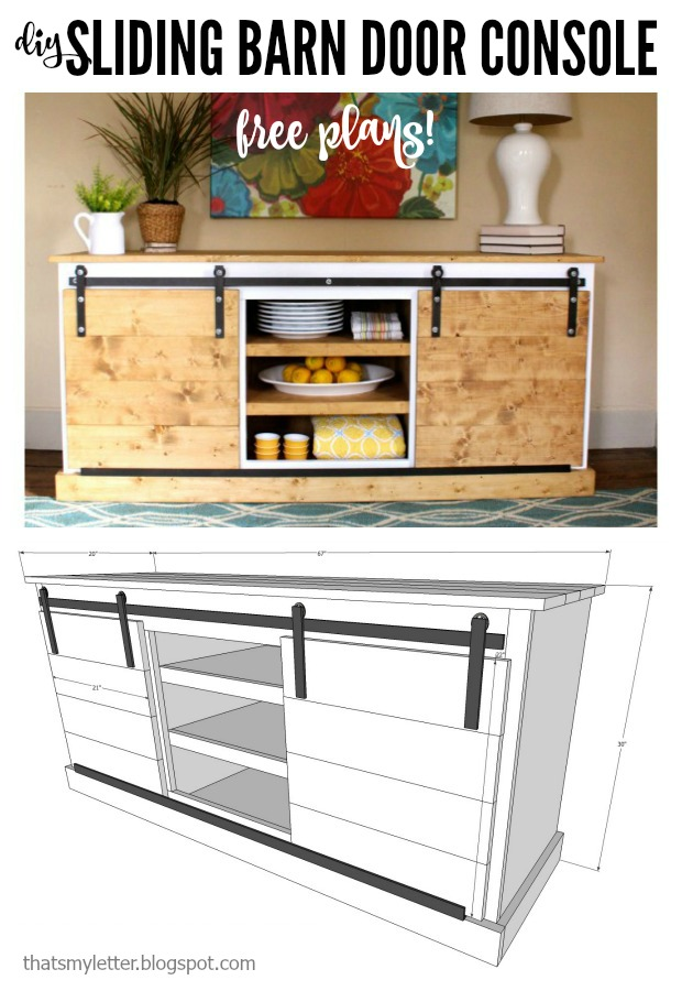 Diy Sliding Barn Door Console Free Plans That S My