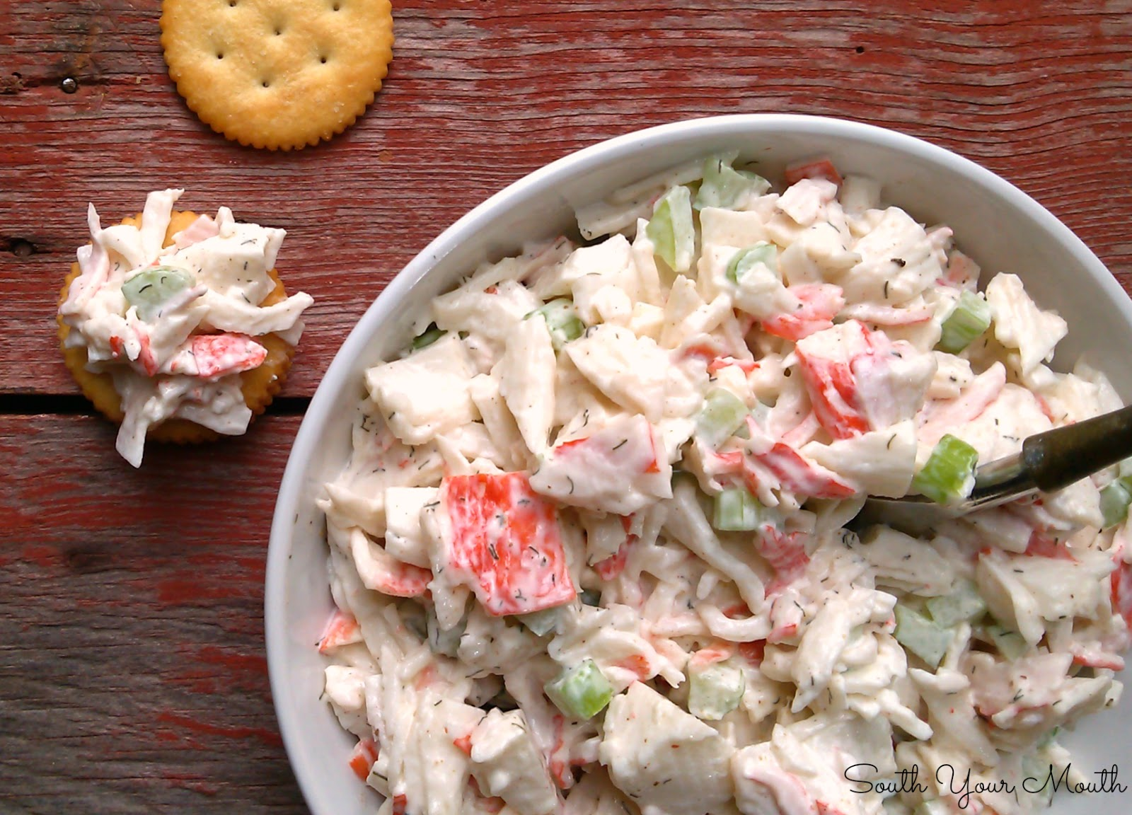 Quick and easy Seafood Salad that's always a hit! Use crab, shrimp or ...