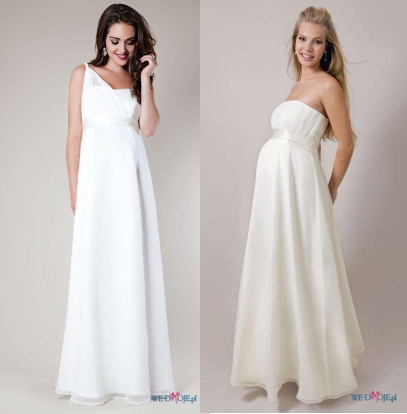 Kolorowe Inspiracje ślubne Moda ślubna Dla Ciężarnych